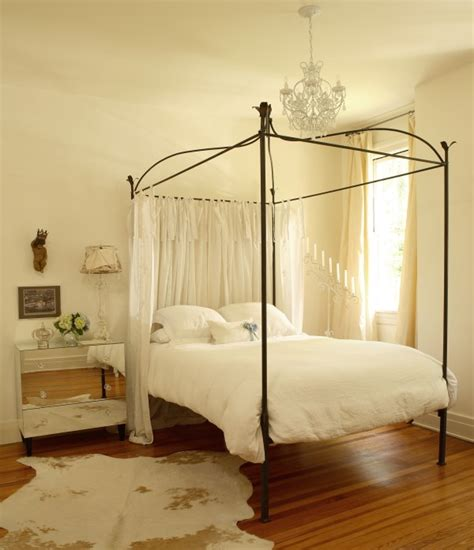 sheer curtains for canopy bed mirrored nightstand contemporary bedroom the iron gate