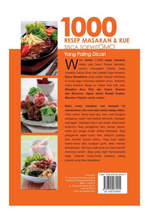 Buku Masakan Hidangan Indonesia Populer jual buku 1000 resep masakan kue sisca soewitomo yang