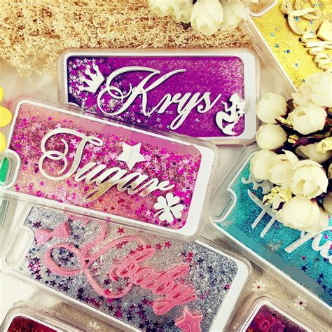 Jelly Water Glitter Iphone 5gs korea awesome exclusive customize name liquid glitter
