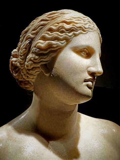 ancient greek woman sculpture bust of aphrodite roman copy of 360 bce greek original by