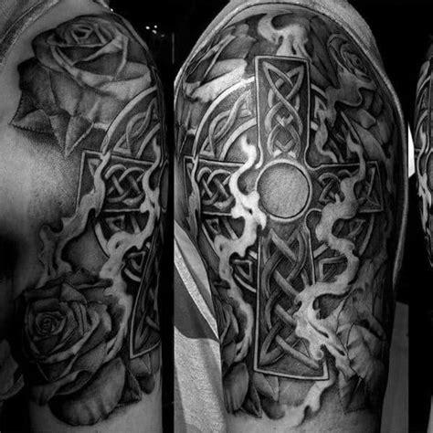 celtic cross tattoos  men ancient symbol design ideas