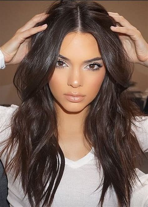 Kendall Jenner Hairstyles kendall jenner wavy brown waves hairstyle