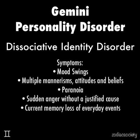 gemini personality disorder i m pretty sure this is a