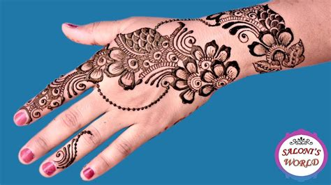 finger tattoo youtube latest ornamental arabic henna mehndi designs for hands by