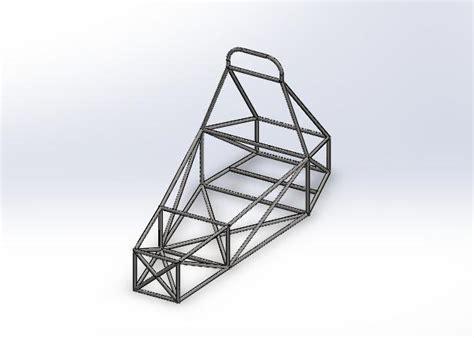 frame design solidworks entry level chassis for fsae solidworks 3d cad model
