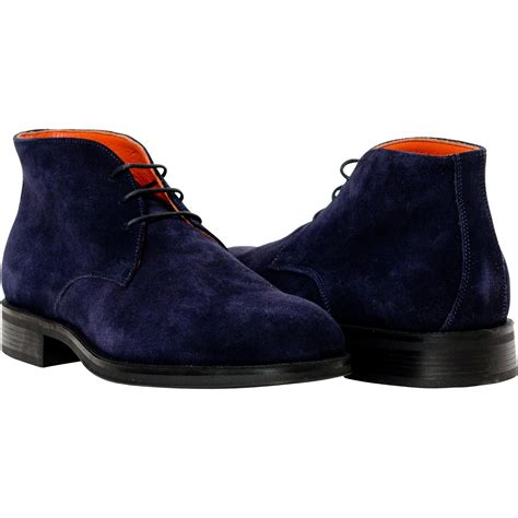 zachary navy blue suede boots paolo shoes