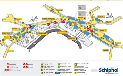 United Airways Baggage by Schiphol Amsterdam Airport Info O A Plattegrond