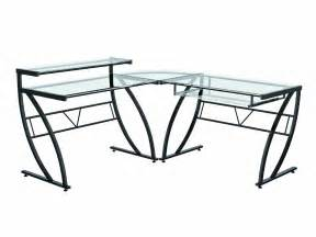 z line belaire glass l shaped computer desk new ebay
