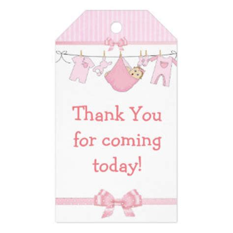 Thank You Tags For Baby Shower by Baby Shower Tags Baby Shower Favor Tags Zazzle