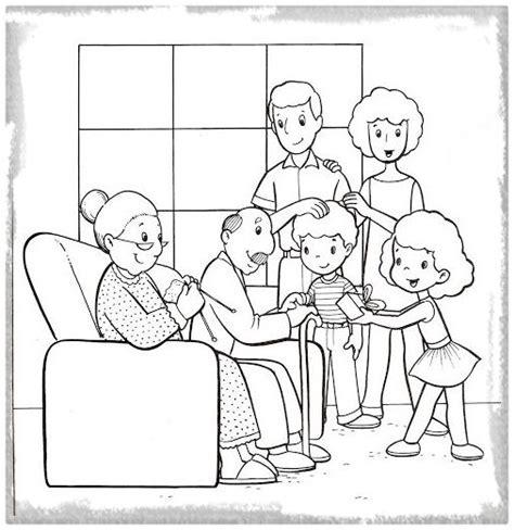 imagenes de la familia escolar para colorear encuentra dibujos para colorear la familia imagenes de