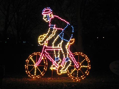 mid life cycling lights santas snow and bikes