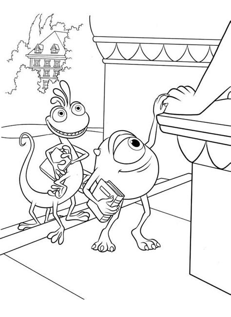 monsters inc coloring pages randall photos mike with randall coloring pages monster inc