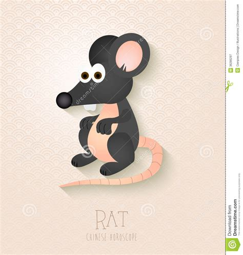 new year 2016 and rat zodiac set year of the rat royalty free stock