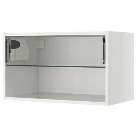 ikea white cabinet with glass doors akurum wall cabinet frame horizontal white 30x15