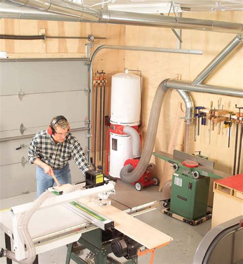 setting up a small woodworking shop central dust collection popular woodworking magazine