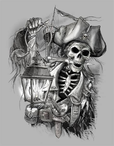 pirate tattoo design cutthroat jake obxrussell 00