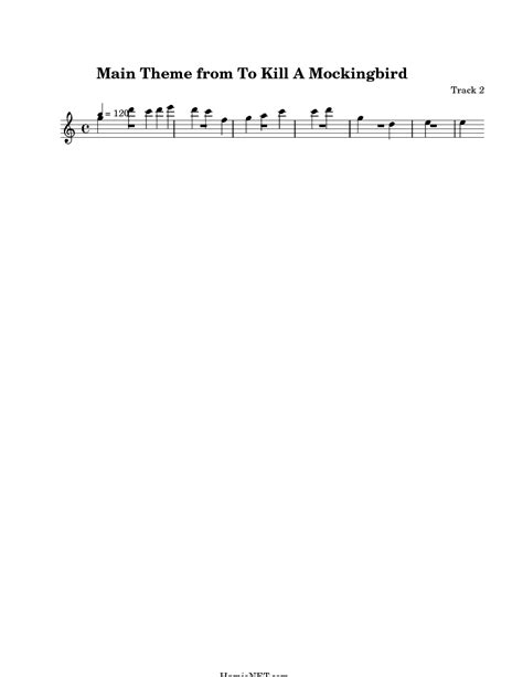 to kill a mockingbird theme song lyrics main theme from to kill a mockingbird sheet music main