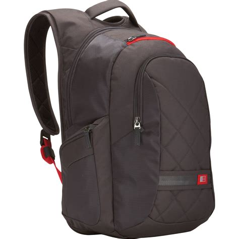 logic cases logic 16 quot laptop backpack gray dlbp 116 dg b h