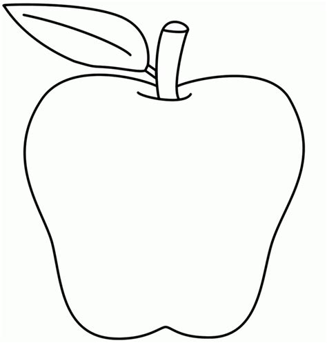 free printable coloring page of an apple free printable apple coloring pages for kids