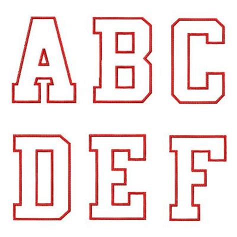 College Block Letter Font College Applique Font 2 Color
