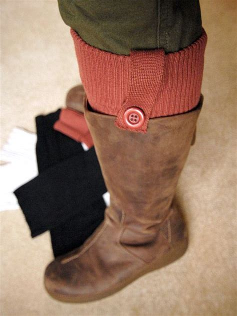 diy boot sock from repurposed thriftstore sweater