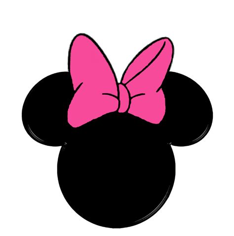 minnie mouse head template clipart best