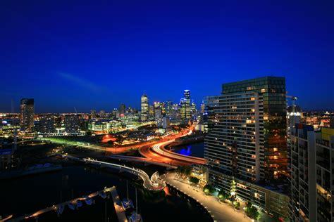 boat lights melbourne melbourne australia country city lights evening buildings