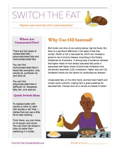 healthy fats handout 4 tips for healthful cooking food and health communications