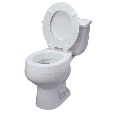 elevated toilet seat dmi elongated hinged elevated toilet seat in white 641