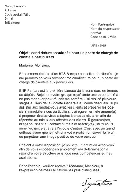 Lettre De Motivation Candidature Spontan E Ratp lettre de motivation bnp paribas mod 232 le de lettre