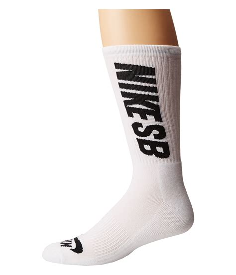 Socks Nike White nike sb 3 pack crew socks in white for lyst