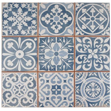 tiles inspiring porcelain tile backsplash home depot wall merola tile faenza azul 13 in x 13 in ceramic floor and
