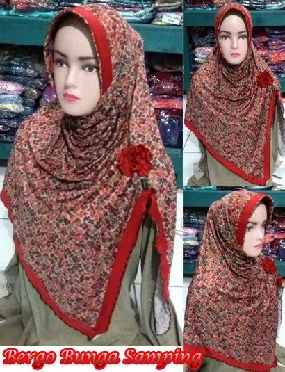 Bergo Anak Auliya Bunga bergo bunga sing sentral grosir jilbab kerudung i supplier jilbab i retail grosir