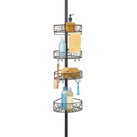 bathroom tension pole caddy tension pole shower caddy bronze in bathroom organizers