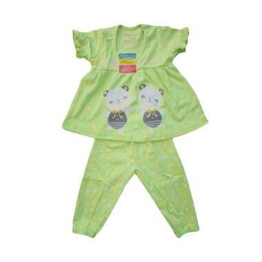 Baju Bayi Piteku jual piteku hello set baju tidur lengan pendek anak hijau harga kualitas