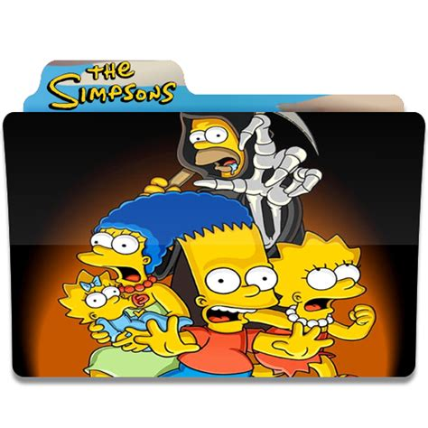 The Simpsons 04 simpsons folder 04 icon simpsons folder iconset quaffleeye