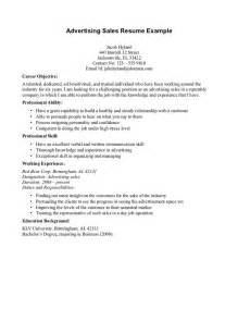 Career Objective Sle In Resume by 1000 Images About Advertising Resume Objectives On