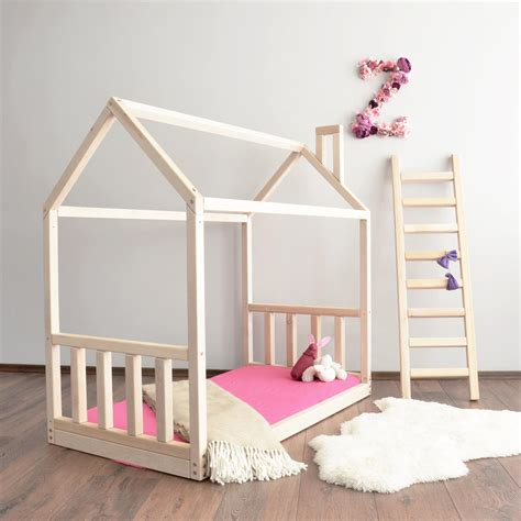 Montessori Bed Frame House Bed Frame Toddler Bed Montessori Baby Bed Crib Size