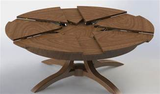 expandable table expandable round table in simple mechanism the homy design