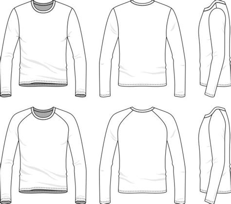 Royalty Free Long Sleeve T Shirt Template Clip Art Vector Images Illustrations Istock Blank Sleeve T Shirt Template