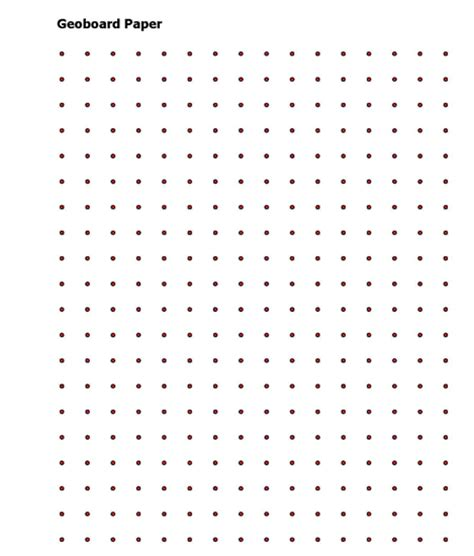 printable area paper pin geoboard paper on pinterest