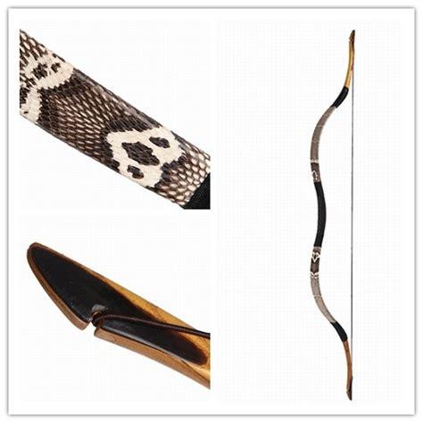 Handmade Longbow - handmade longbow snakeskin 20 60lbs flagella reiterbogen