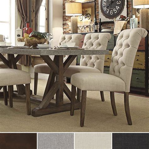 Upholstered Parsons Dining Room Chairs by Immerse Yourself In The Regal Manufacturing Of This