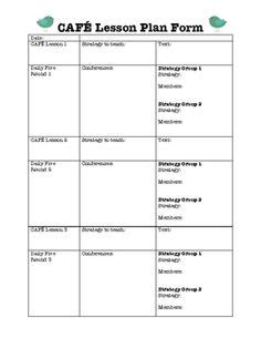 balanced literacy lesson plan template shared reading lesson plan template guided reading