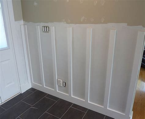 Diy Wainscoting Bathroom by Diy Board And Batten Wainscoting The Home Depot New