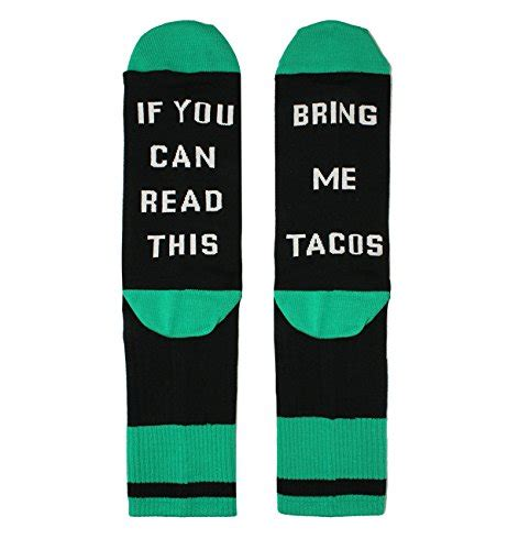 tacodance if you can read bring me taco funny socks crazy daily content