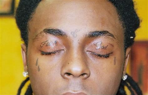 lil wayne eye tattoo eyelid tattoos boredbug