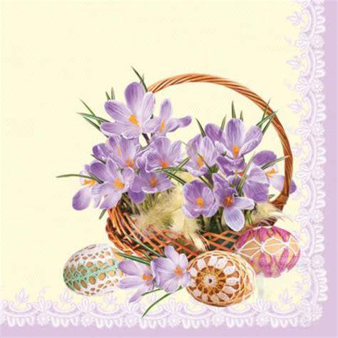 fiori per decoupage tovaglioli per decoupage cestino di fiori 1 pz