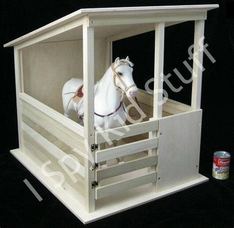 doll sized size wood horse stable barn shed corral toy