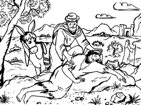 The Parable Of The Good Samaritan Color Page Vbs 2012 The Samaritan Coloring Pages